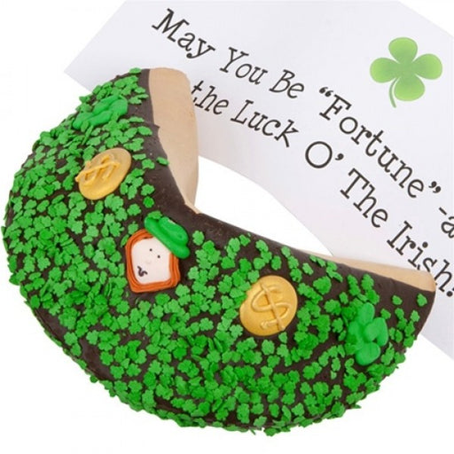 Saint Patrick's Day Dark Chocolate Giant Fortune Cookie