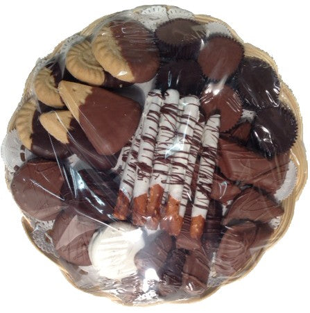 "Medium 10"" Treat Tray Sampler Platter - Chocolate.org"