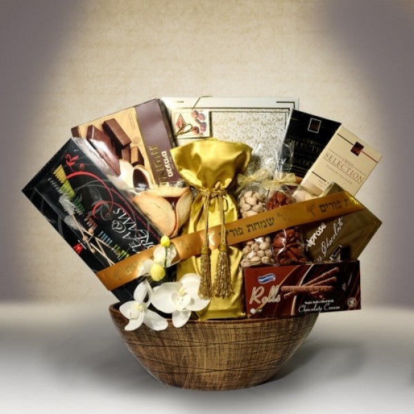 Luxury Purim Basket - Chocolate.org