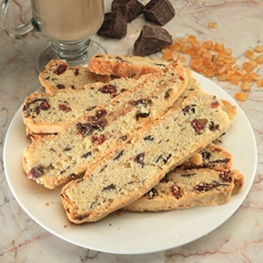 Orange Chocolate Biscotti With Candied Orange Bits