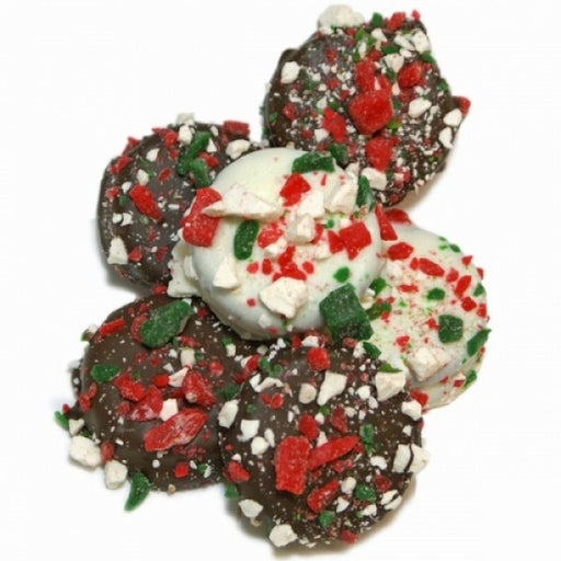 Belgian Chocolate Dipped Oreos Candy Cane Edition