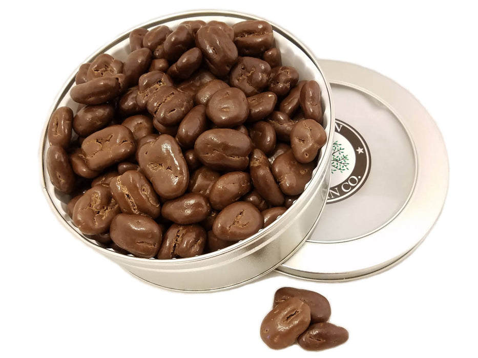 Sugar Free Chocolate Pecan Gift Tin 16oz - Chocolate.org