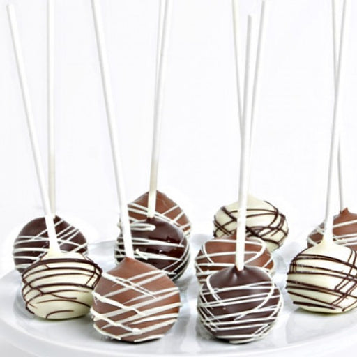 10 Belgian Chocolate Dipped Cake Pops