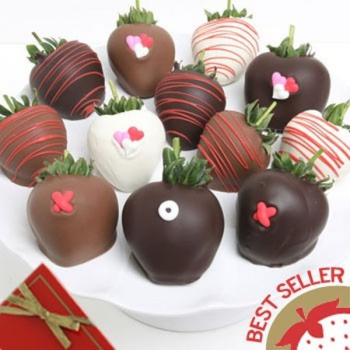 12 Valentines Day Xox Chocolate Covered Berries