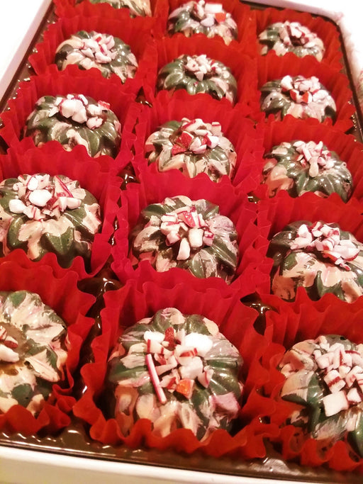 Creme De Menthe - Mint Chocolate Truffles / ALL NATURAL / 15 count - Chocolate.org