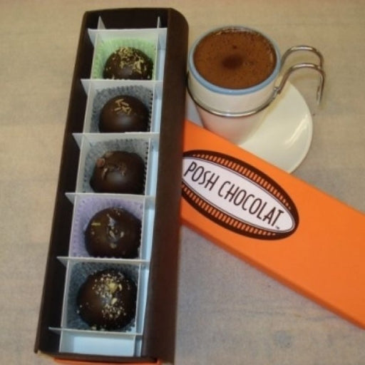 5 Piece Truffe Box With Hot Chocolate Mix