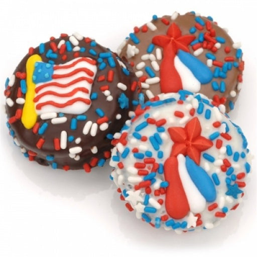 Patriotic Chocolate Dipped Oreos