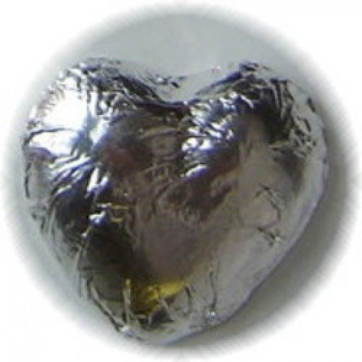 Silver Foiled Milk Chocolate Hearts 1 Lb - Chocolate.org