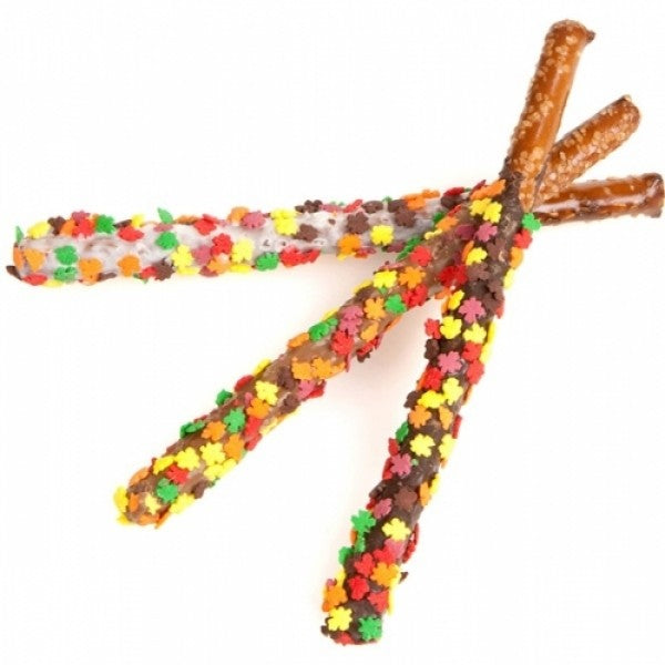 Autumn Leaves Pretzel Wands - Chocolate.org