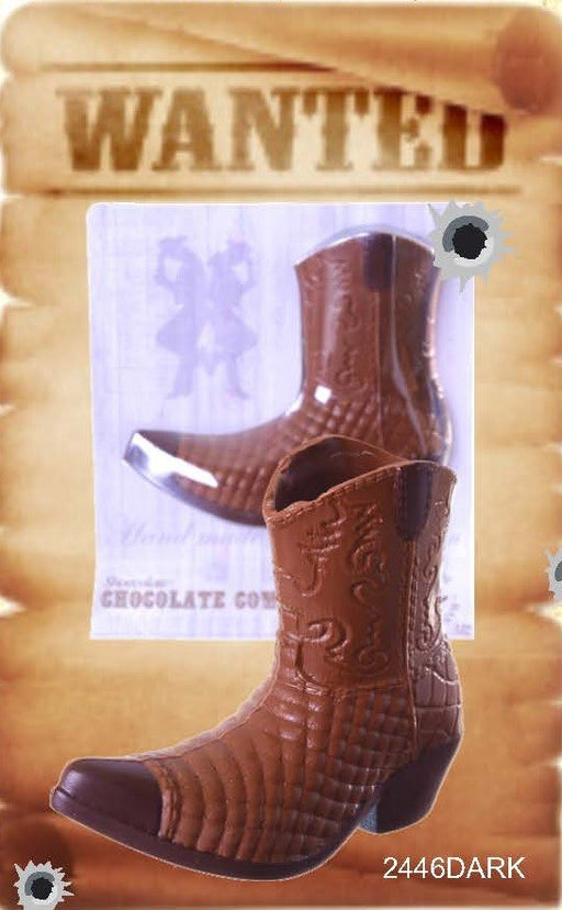 Chocolate Cowboy Boot - Dark