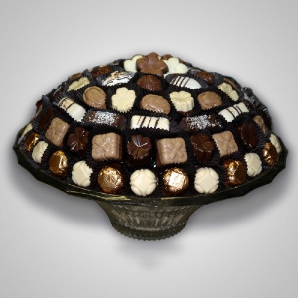 Crystal Fruit Bowl Filled With Chocolates