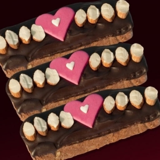 Valentine Gift Box W/ Imported Dark Chocolate Biscotti