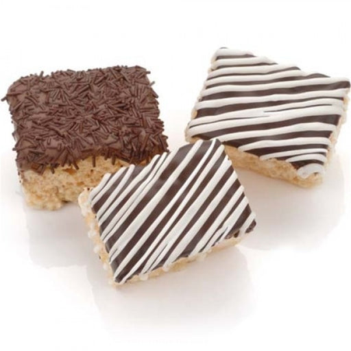 Classic Belgian Chocolate Mini Rice Krispies Treats - Chocolate.org