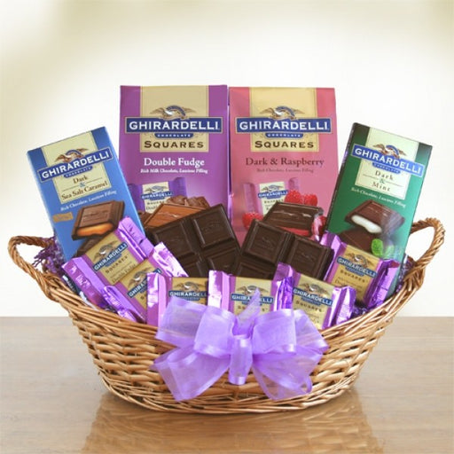 Ghirardelli Chocolate Heaven Gift Basket - Chocolate.org