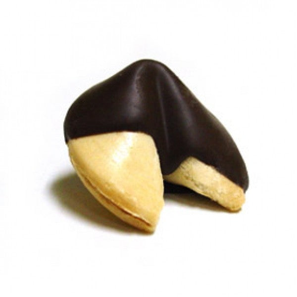 Traditional Fortune Cookies Dipped In Dark Chocolate