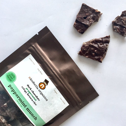 nicobella Organic Dark Chocolate Peppermint Munch