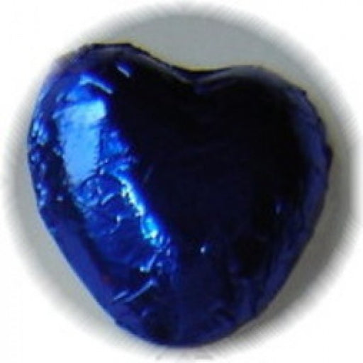 Dark Blue Chocolate Foiled Hearts 1 Lb