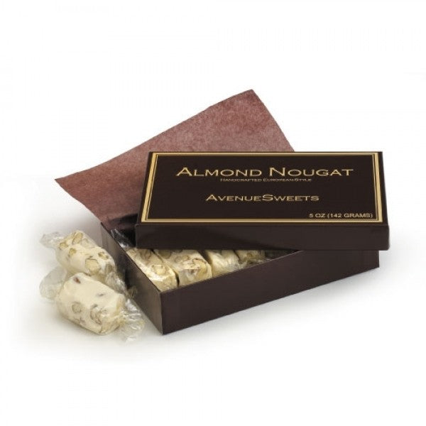 5oz Box AvenueSweets Signature Almond Nougat - Chocolate.org