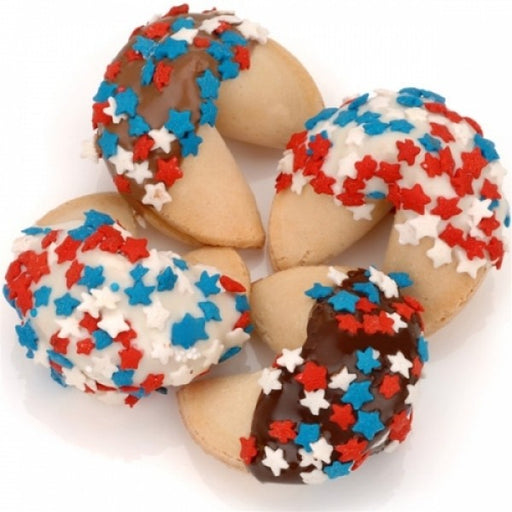 Patriotic Confetti Hand Dipped Gourmet Fortune Cookies
