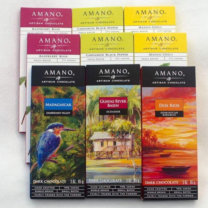 Amano Chocolate 9 Bar Sampler - Chocolate.org