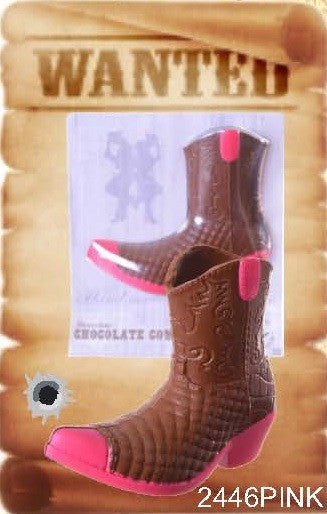 Chocolate Cowboy Boot - Pink - Chocolate.org