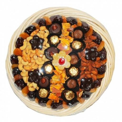 Gourmet Dry Fruit And Nuts Basket - Chocolate.org