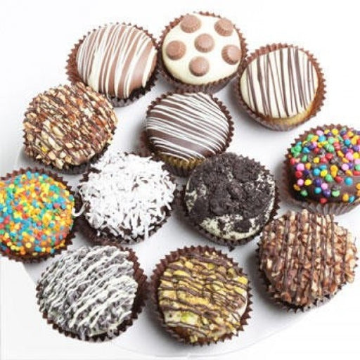 12 Ultimate Belgian Chocolate Covered Cupcakes