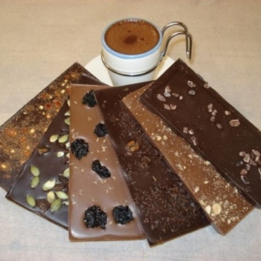 Hot Chocolate Mix And 6 Assorted Single Origin Bars