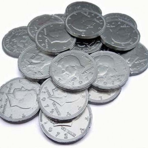 Silver Chocolate Coins 'Pack Of 160' - Chocolate.org