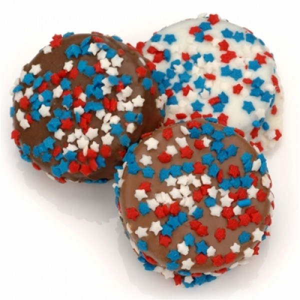 Red White And Blue Stars Chocolate Dipped Oreos