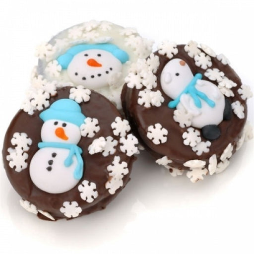 Winter Edition Chocolate Dipped And Decorated Oreos - Chocolate.org