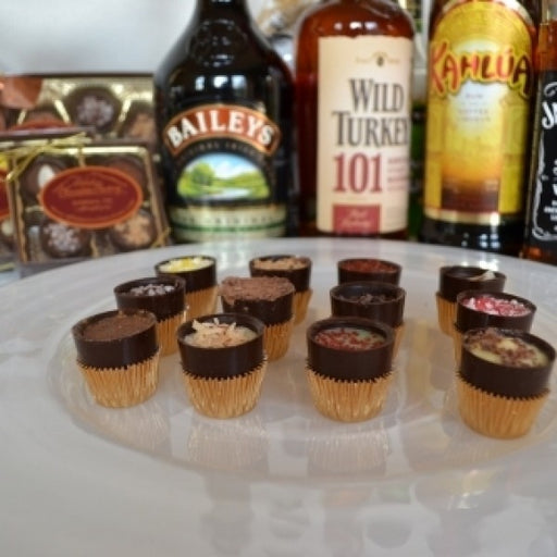 Mini Shooters Sampler 4 Liquor/Alcohol Filled Chocolates