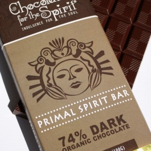 Organic 74 Percent Dark Chocolate Primal Spirit Bars