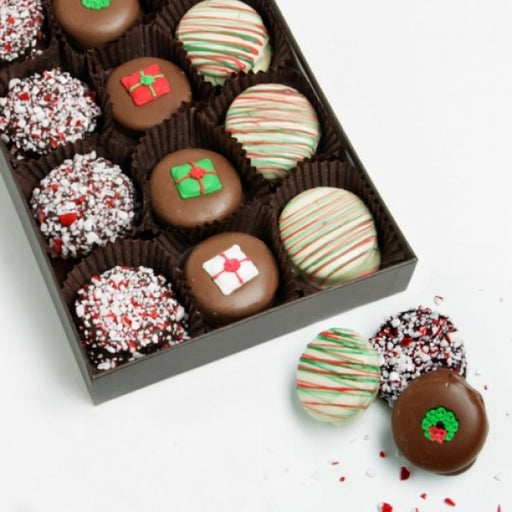 15 Christmas Decorated Chocolate Covered Oreo Cookies