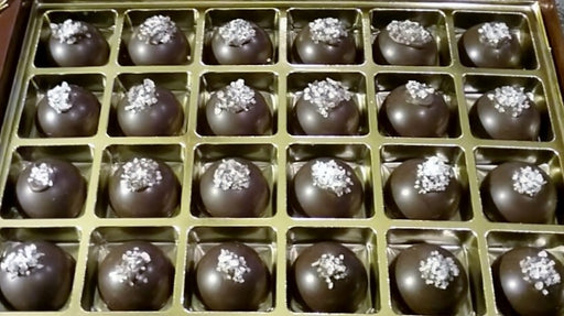 Sea Salt Caramel in Dark or Milk Chocolate / ALL NATURAL / 24 count - Chocolate.org