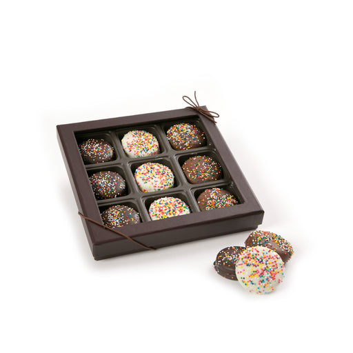 9 Piece Assorted Chocolate Covered Cookies