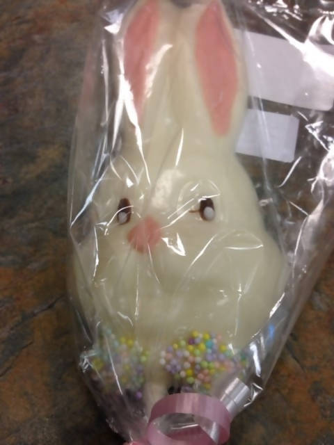Easter Bunny White Pop 6 Piece - Chocolate.org