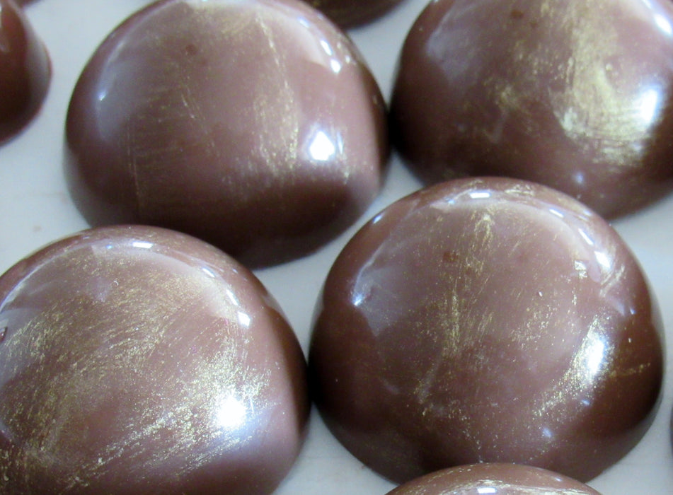 Caramel in Dark or Milk Chocolate/ ALL NATURAL / 12 count