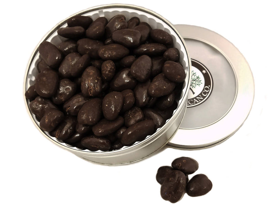 Dark Chocolate Pecans Gift Tin 16 0z - Chocolate.org