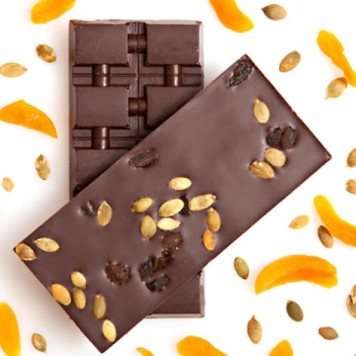 Hot Chocolate Mix And Dried Apricot Dark Chocolate Bar