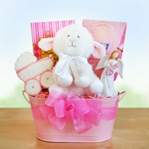 Girl Christening Blessings Gift Basket - Chocolate.org