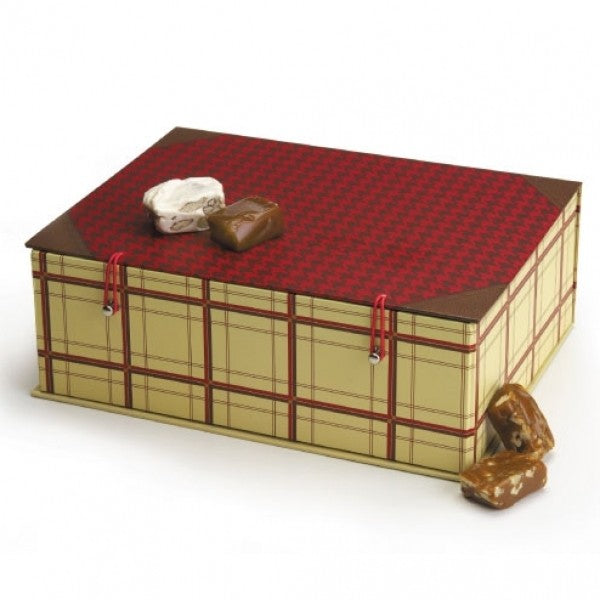 Houndstooth Hamper Gift Box - Chocolate.org
