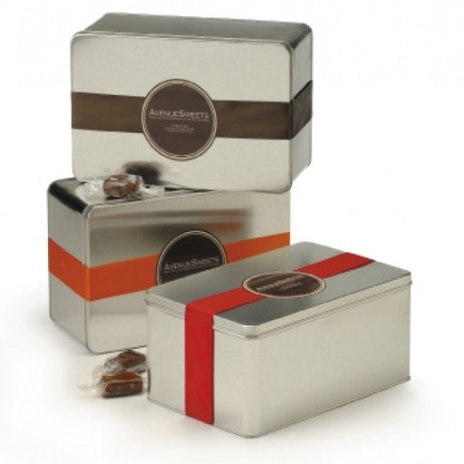 AvenueSweets Decorative Gift Tin Of Caramels - Chocolate.org