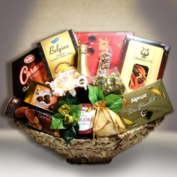 Bamboo Extra Large Canoe Purim Basket - Chocolate.org