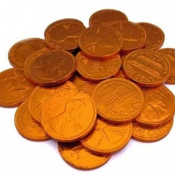 Copper Chocolate Coins 'Pennies' 'Pack Of 160' - Chocolate.org