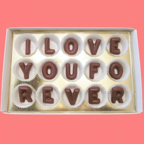 I Love You Forever Large Milk Chocolate Letters