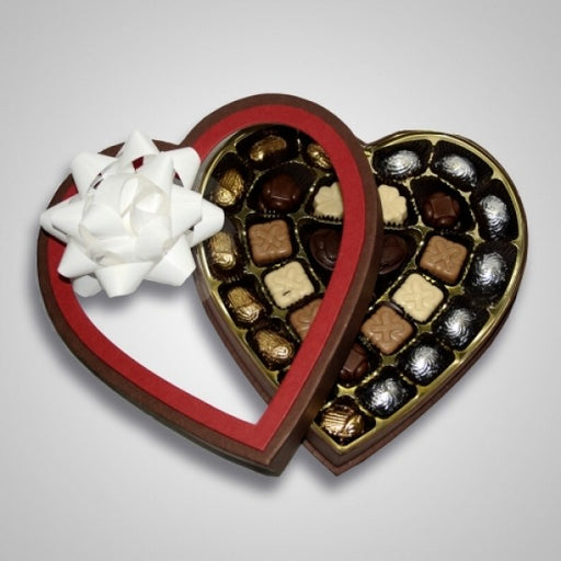 Heart Shaped Box Filled With Chocolate Truffles