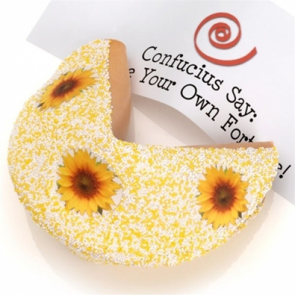Lot's O' Sunshine White Chocolate Giant Fortune Cookie - Chocolate.org