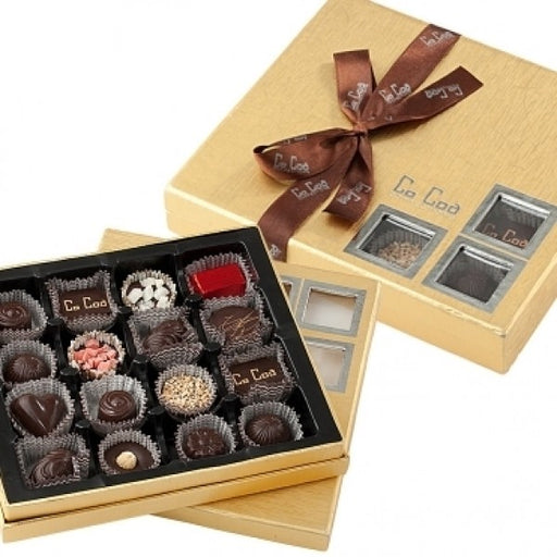 SHOWCASE GOLD DARK CHOCOLATE GIFT BOX - Chocolate.org