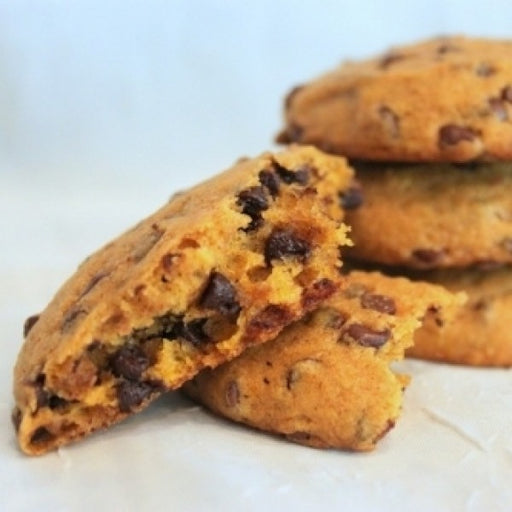 12 Piece Pumpkin Chocolate Chip Cookies - Chocolate.org
